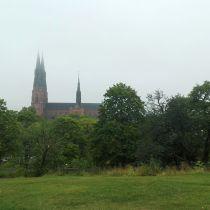 Dom von Uppsala im Nebel